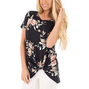 *CLEARANCE* Black Floral Top